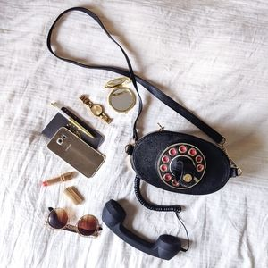 Betsey Johnson Faux Leather Crossbody Phone Purse